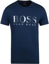 Boss Swim Navy Uv Protection Short Sleeve T-shirt