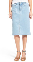 NYDJ Evelyn A-Line Chambray Skirt