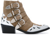 Toga Pulla metallic embellished boots - women - Suede/Leather - 36