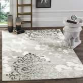 Safavieh Adirondack Collection ADR114B Silver and Ivory Area Rug, 10 Feet by 14 Feet