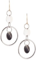 Candela Sterling Silver Disc Dange Earrings with 14K Gold Wire Post
