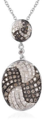 Shop Lc Sterling Silver White Diamond Pendant Necklace Size 20 Inch Ct 0.75 - Size 20''