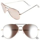 BP Women's Mirrored Aviator 57Mm Sunglasses - Gold/ Black