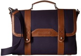 Tommy Hilfiger David-Briefcase-Canvas w/ Leather Trim