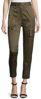 Alexander Wang High-Waist Skinny Cargo Pants, Tank