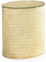 Maitland-Smith Capiz Shell Side Table, Ivory/Cream