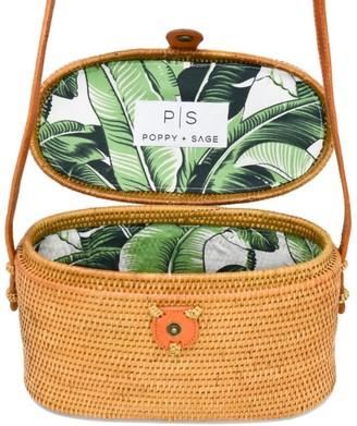 Poppy + Sage Luna Rattan Bag - Palm Leaf