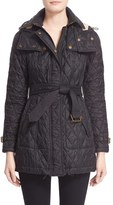 Burberry Women's Finsbridge Belted Quilted Jacket