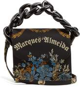 Marques Almeida MARQUES'ALMEIDA Oversized curb-chain embroidered shoulder bag