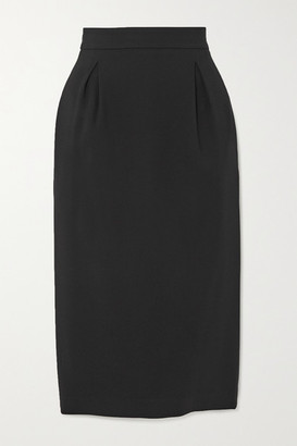 Versace - Cady Pencil Midi Skirt - Black