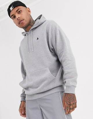 Asos Design DESIGN oversized hoodie in grey marl with triangle