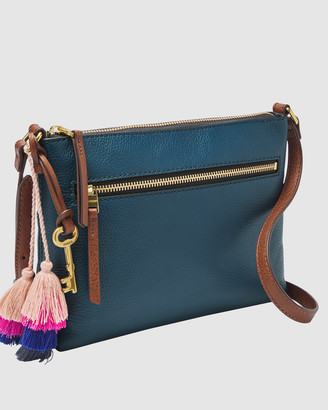 Fossil Fiona Blue Shoulder Bag