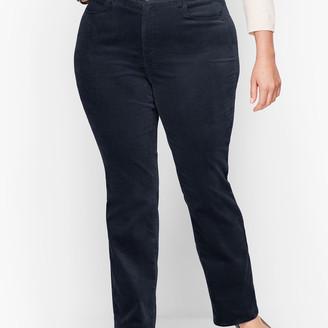 Talbots Velveteen Straight Leg Pants - Curvy Fit