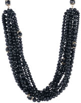 Ivanka Trump Cubic Zirconia and 10K Gold-Plated Beaded Collar Necklace