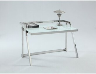 Alnwick Glass Desk Orren Ellis
