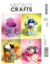 Mccall's 4858 Crafts Pattern Bucket Organizers