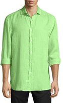 Ralph Lauren Solid Linen Long-Sleeve Sport Shirt, Spearmint