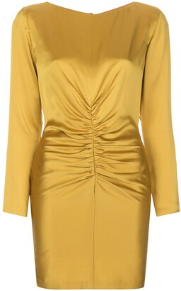 Mason by Michelle Mason Rushed Silk Mini Dress