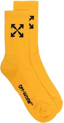 Off-White Arrow Graphic Sport Socks