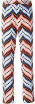 Kenzo chevron straight leg trousers - women - Silk/Polyester - 34