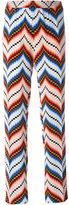 Kenzo chevron straight leg trousers - women - Silk/Polyester - 36