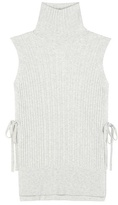 Maison Margiela Ribbed Wool And Cashmere-blend Turtleneck Top
