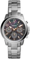 Fossil Women's Chronograph Gwynn Stainless Steel Bracelet Watch 38mm ES4148