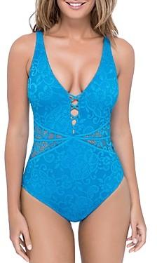 Gottex Shalimar D-Cup Lace One Piece Swimsuit