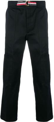 Thom Browne Grosgrain Belt Cargo Trouser