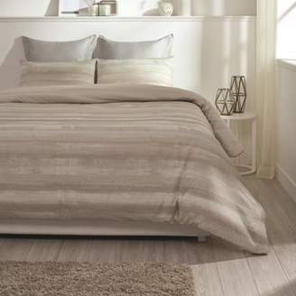 """BEIGE A1 Home Collections A1HC Coastline Reversible Print 100% Organic Cotton Wrinkle Resistant Duvet Cover and Sham Set of 2 with Internal Ties and Button Closure, 88"""" x 92"""", Queen,"""