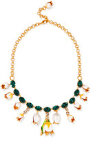 Dolce & Gabbana Gold-plated, Swarovski Crystal And Enamel Necklace - one size