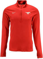 Nike Men's Southern Methodist Mustangs Solid Dri-fit Element Quarter-Zip Pullover