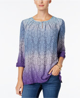 Charter Club Paisley Ombré Tunic, Only at Macy's