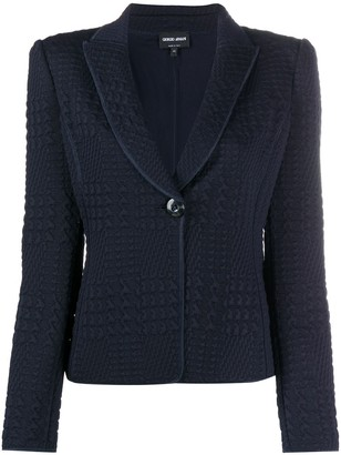Giorgio Armani Textured Single-Breasted Blazer
