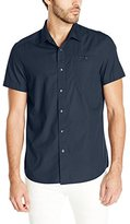 Kenneth Cole New York Men's Short Sleeve Ripstop Shirt