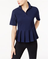 Lacoste Cotton Pleated Polo Top