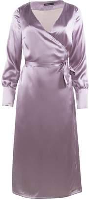 Shopyte Anchor Grey Silk Dress