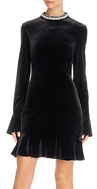 Betsey Johnson Embellished Velvet Mini Dress