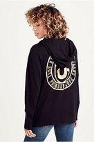 True Religion Boyfriend Logo Crest Zip Womens Hoodie