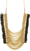 Deepa Gurnani Women's Glass Labradorite & Feather Necklace