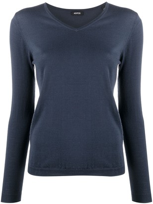 Aspesi V-Neck Pull Over Jumper