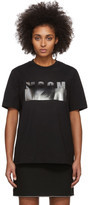 MSGM Black Degrade Logo T-Shirt