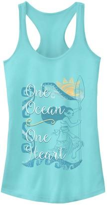 "Disney Junior's Disney's Moana ""One Ocean One Heart"" Racerback Tank"