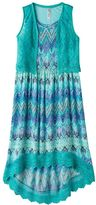 Knitworks Girls Plus Size Crochet Maxi Dress & Vest