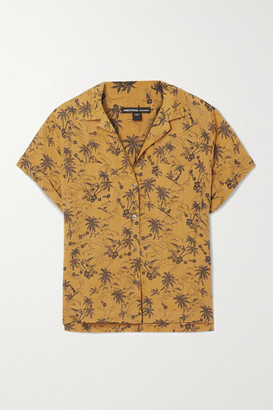 James Perse Aloha Printed Voile Shirt - Saffron