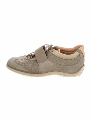 Louis Vuitton Suede Round-Toes Sneakers