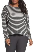 Eileen Fisher Plus Size Women's Stripe Tencel & Wool Sweater
