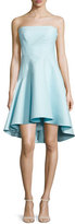 Halston Strapless Structured Dress, Foam