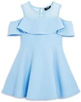 Bardot Junior Girls' Cold-Shoulder Ruffle Dress