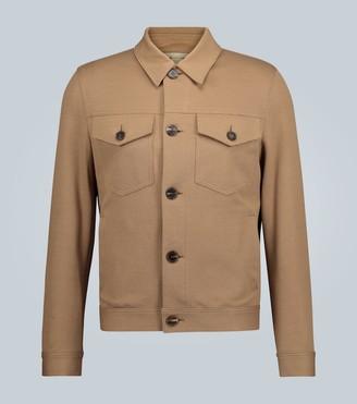 Harris Wharf London Stretch pique shirt jacket